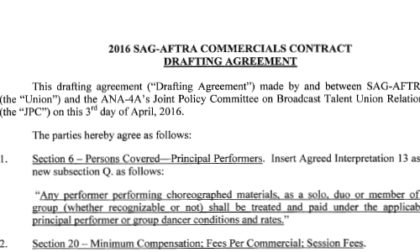 2016-SAG-AFTRA-Commercials-Contract-Drafting-Agreement